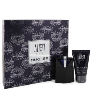 Alien Man 0.00 oz Gift Set  1.7 oz Eau De Toilette Spray Refillable 1.7 oz Hair & Body Shampoo For Men by Thierry Mugler