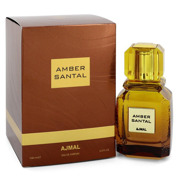 Ajmal Amber Santal 3.40 oz Eau De Parfum Spray (Unisex) For Women by Ajmal