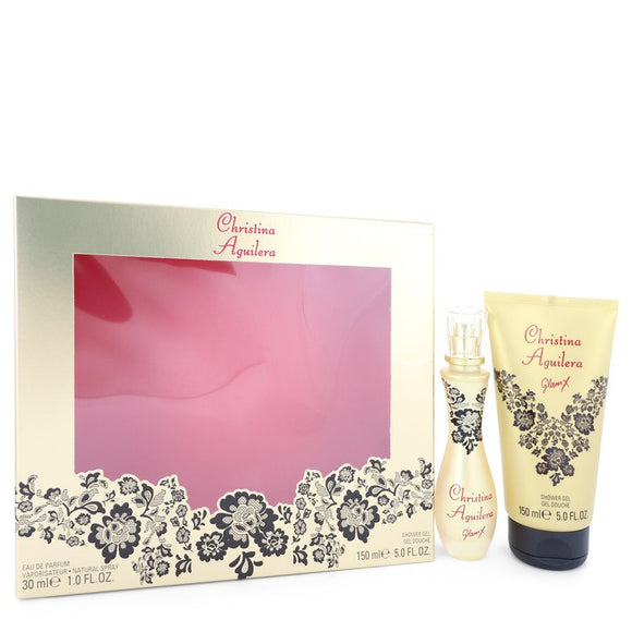 Glam X Gift Set  1 oz Eau De Parfum Spray + 5 oz Shower Gel For Women by Christina Aguilera