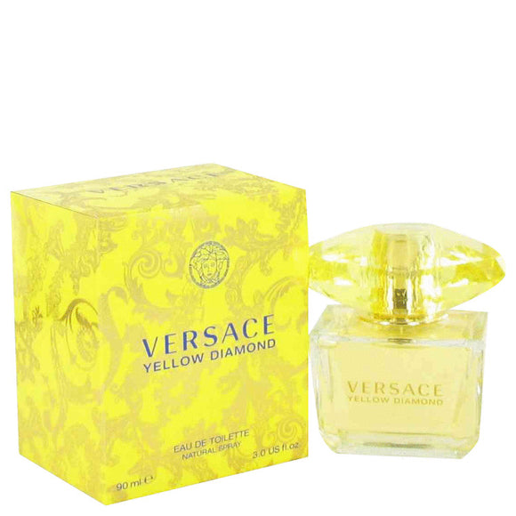 Versace Yellow Diamond Gift Set  3 oz Eau De Toilette Spray + 0.3 oz  Mini EDP Spray  In Versace Black Pouch For Women by Versace
