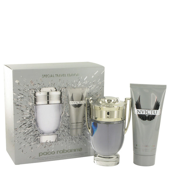 Invictus Gift Set  3.4 oz Eau De Toilette Spray + 3.4 oz Shower Gel For Men by Paco Rabanne