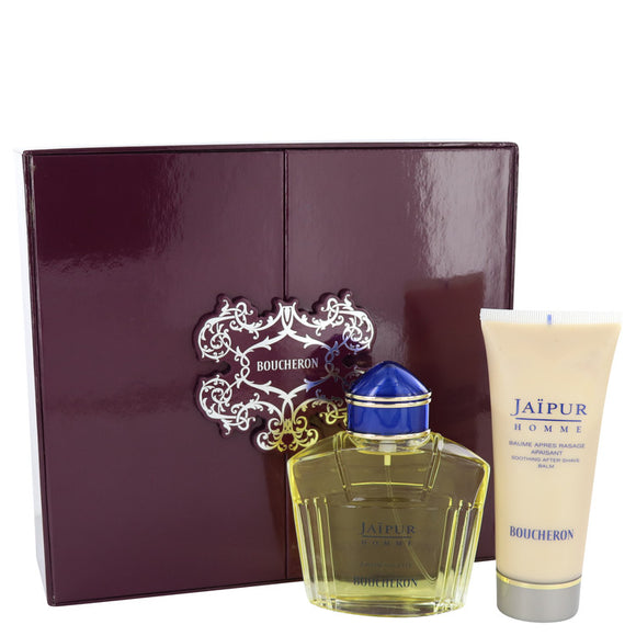 Jaipur Gift Set - 3.3 oz Eau De Toilette Soray + 3.3 oz After Shave Balm For Men by Boucheron