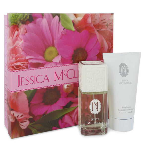JESSICA Mc CLINTOCK Gift Set  3.4 oz Eau De Parfum Spray + 5 oz Body Lotion For Women by Jessica McClintock