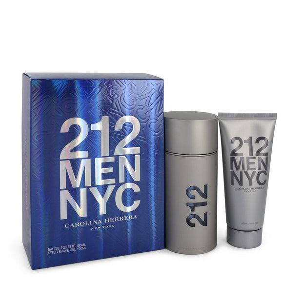 212 0.00 oz Gift Set  3.3 oz  Eau De Toilette Spray + 3.3 oz After Shave Gel For Men by Carolina Herrera