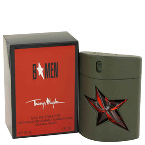 B Men 1.00 oz Eau De Toilette Spray Rubber Flask For Men by Thierry Mugler