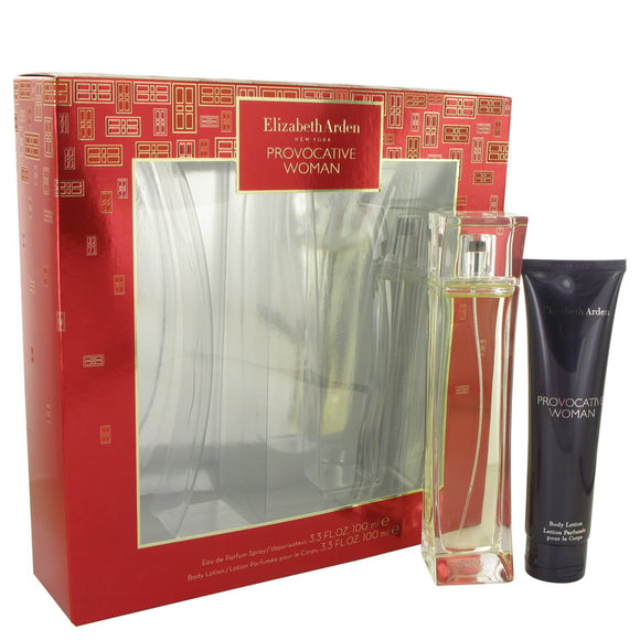 Provocative Gift Set - 3.3 oz Eau De Parfum Spray + 3.3 oz Body Lotion For Women by Elizabeth Arden