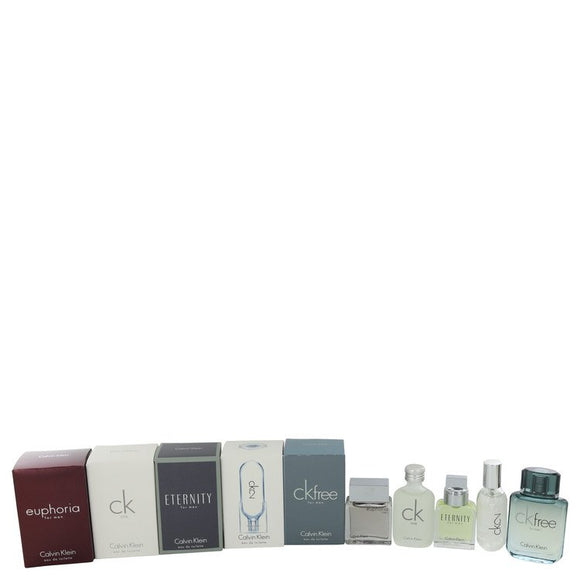 Euphoria Gift Set  Deluxe Travel Mini Set Includes Euphoria, CK One, Eternity, Ck 2 and CK Free For Men by Calvin Klein