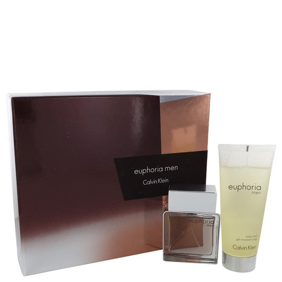 Euphoria Gift Set  1.7 oz Eau De Toilette Spray + 3.4 oz Shower Gel For Men by Calvin Klein