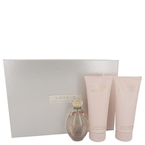Lovely Gift Set  3.4 oz  Eau De Parfum Spray + 6.7 oz Body Lotion + 6.7 oz Shower Gel For Women by Sarah Jessica Parker