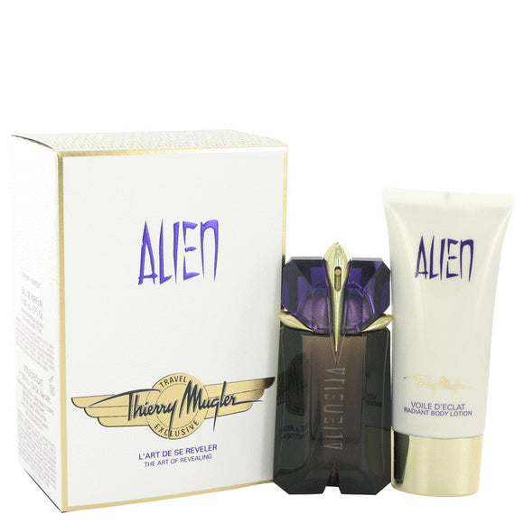 Alien Gift Set - 2 oz Eau De Parfum Spray + 3.4 oz Body Lotion  (Travel Set) For Women by Thierry Mugler