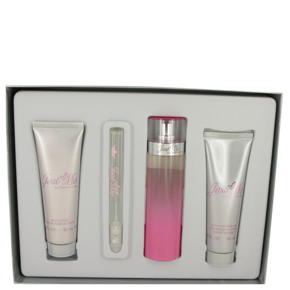 Just Me Paris Hilton Gift Set  3.3 oz Eau De Parfum Spray + 3 oz Body Lotion + 3 oz Shower Gel + .34 oz Mini EDP Spray For Women by Paris Hilton