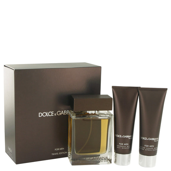 The One Gift Set  3.4 oz Eau De Toilette Spray + 1.7 oz Shower Gel + 1.7 oz After Shave Balm For Men by Dolce & Gabbana