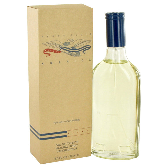 AMERICA 5.00 oz Eau De Toilette Spray For Men by Perry Ellis