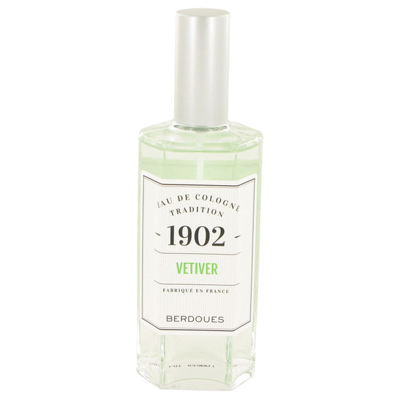 1902 Vetiver 4.20 oz Eau De Cologne Spray (Unisex) For Women by Berdoues