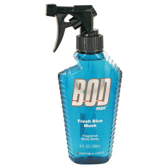 Bod Man Fresh Blue Musk 8.00 oz Body Spray For Men by Parfums De Coeur