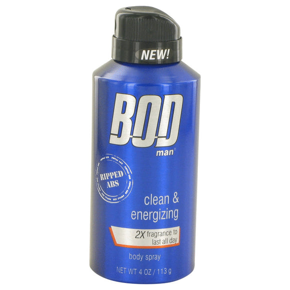 Bod Man Really Ripped Abs 4.00 oz Fragrance Body Spray For Men by Parfums De Coeur