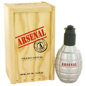 ARSENAL RED 3.40 oz Eau De Parfum Spray For Men by Gilles Cantuel