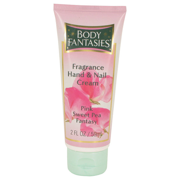 Body Fantasies Signature Pink Sweet Pea Fantasy 2.00 oz Hand & Nail Cream For Women by Parfums De Coeur