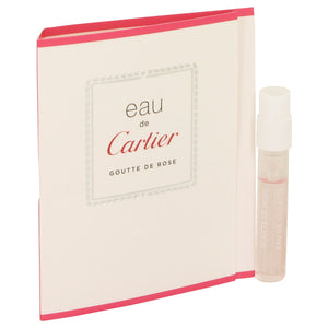 Eau De Cartier Goutte De Rose Vial (sample) For Men by Cartier