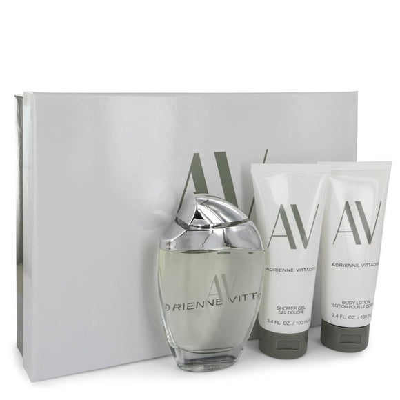 AV 0.00 oz Gift Set  3 oz Eau De Parfum Spray + 3.3 Body Lotion + 3.3 oz Shower Gel For Women by Adrienne Vittadini