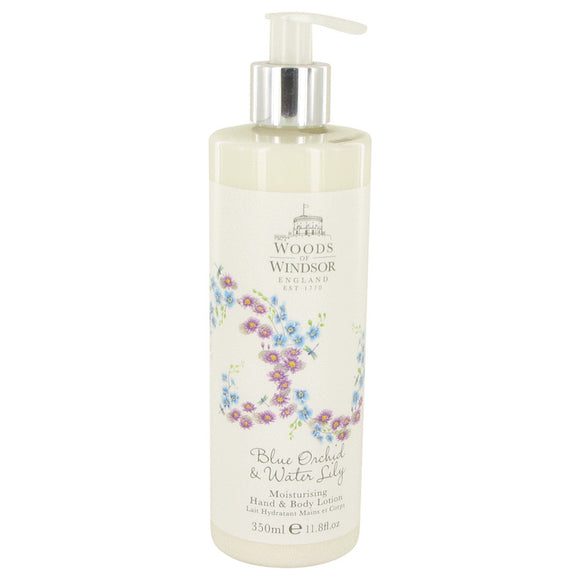 Blue Orchid & Water Lily Body Lotion For Women by Woods of Windsor
