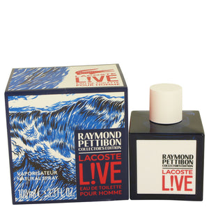 Lacoste Live Eau DE Toilette Spray (Limited Edition Raymond Pettibon Bottle) For Men by Lacoste