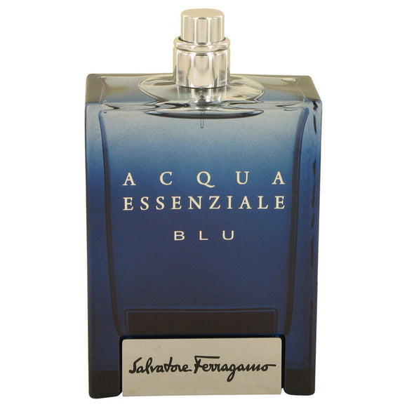 Acqua Essenziale Blu 3.40 oz Eau De Toilette Spray (Tester) For Men by Salvatore Ferragamo