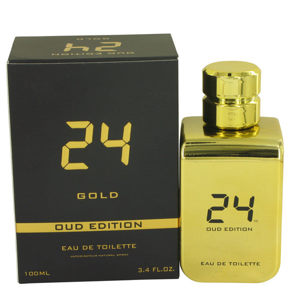 24 Gold Oud Edition 3.40 oz Eau De Toilette Concentree Spray (Unisex) For Men by ScentStory