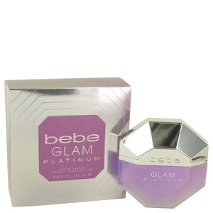 Bebe Glam Platinum 3.40 oz Eau De Parfum Spray For Women by Bebe
