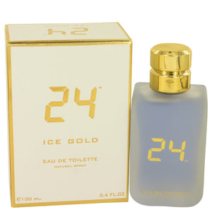 24 Ice Gold 3.40 oz Eau De Toilette Spray For Men by ScentStory