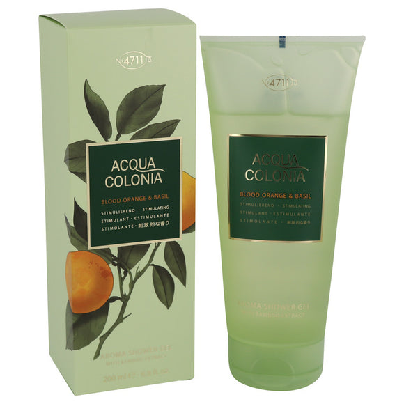 4711 Acqua Colonia Blood Orange & Basil 6.80 oz Shower Gel For Women by Maurer & Wirtz