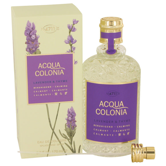 4711 ACQUA COLONIA Lavender & Thyme 5.70 oz Eau De Cologne Spray (Unisex) For Women by Maurer & Wirtz