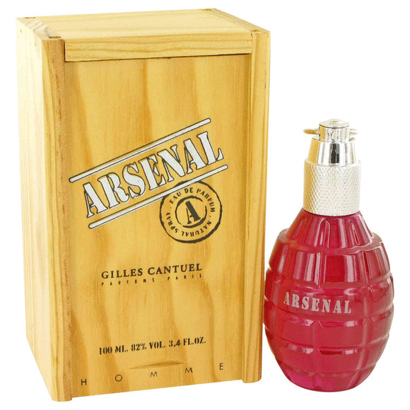Arsenal Dark Red 3.40 oz Eau De Parfum Spray For Men by Gilles Cantuel
