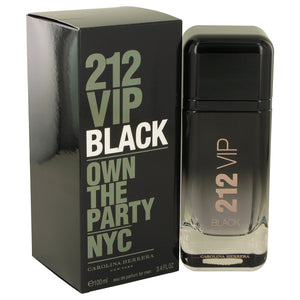 212 VIP Black 3.40 oz Eau De Parfum Spray For Men by Carolina Herrera