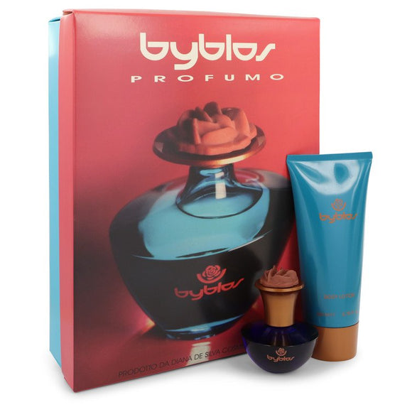 BYBLOS 0.00 oz Gift Set  1.68 oz Eau De Parfum Spray + 6.75 Body Lotion For Women by Byblos