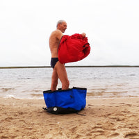 Outdoor swim changing bag for wild swimming / openwater swimming / surfing / swim events