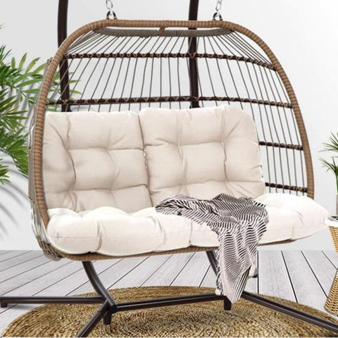 Hamptons Hanging Rattan Swing Chair