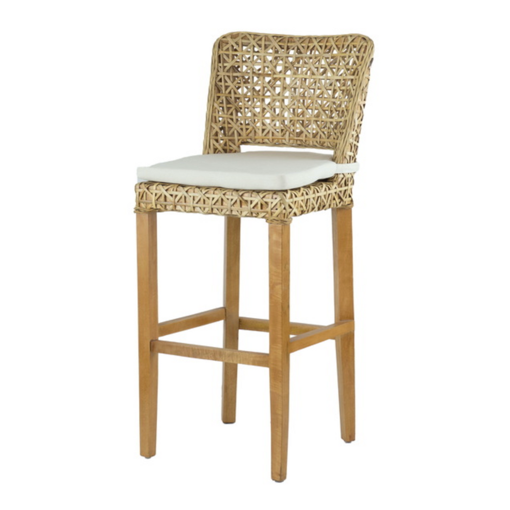 Coolum Rattan Bar Stool with cushion - The Home Accessories Company