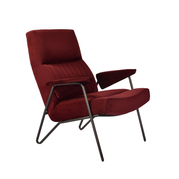 Don Merlot Velvet Chair - The Home Accessories Company