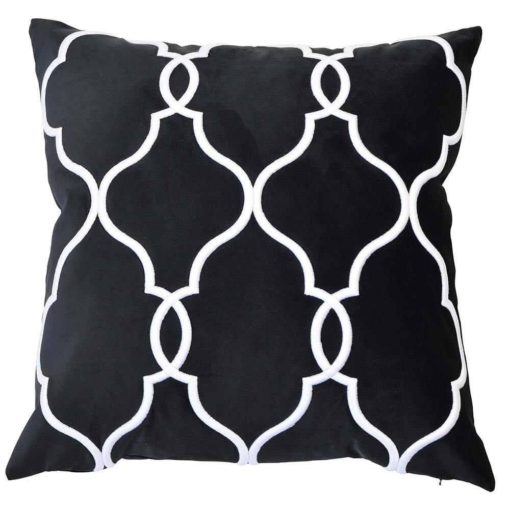 Laguna Beach Cushion Cover - Available in Silver, Soft Blue & Black- The Home Accessories Company 2