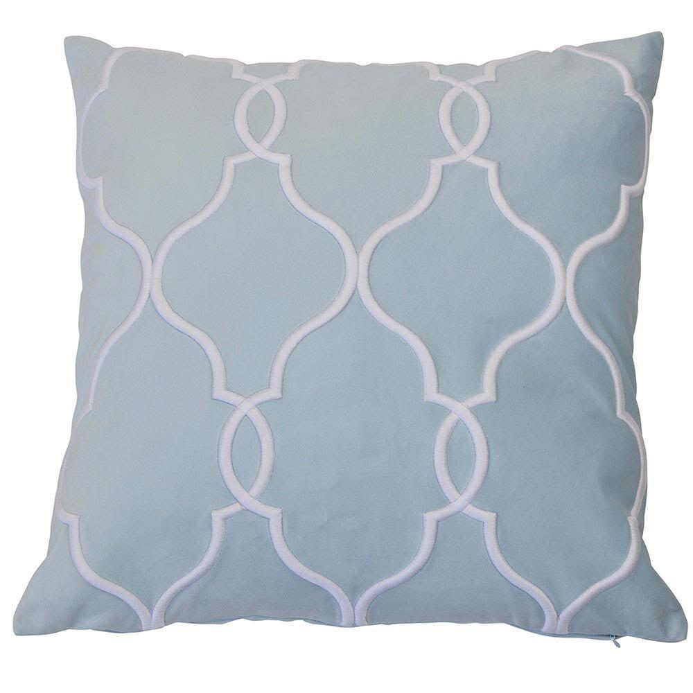 Laguna Beach Cushion Cover - Available in Silver, Soft Blue & Black- The Home Accessories Company 1