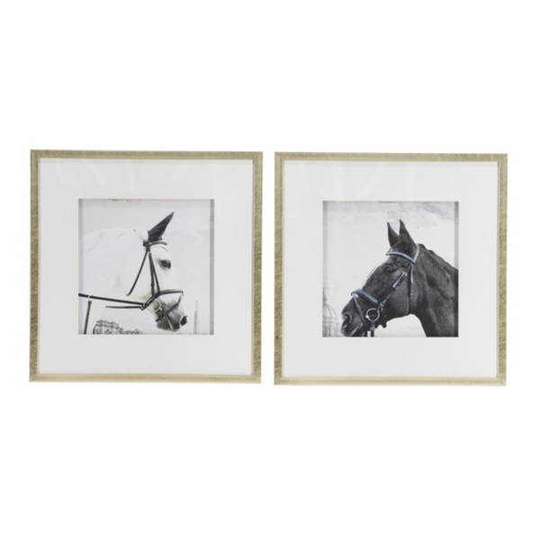 Set of 2 Horse Framed Prints - The Home Accessories Company