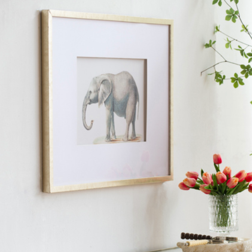 Set of 2 Elephant Framed Prints - The Home Accessories Company 2