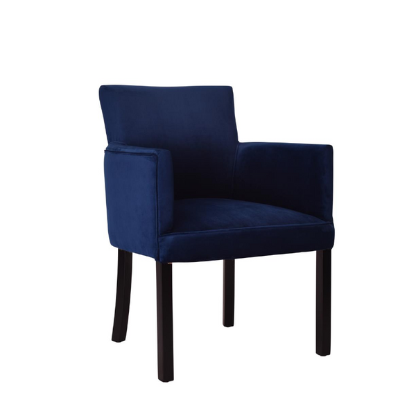 Blue Velvet Betty Lounge Chair - The Home Accessories Company