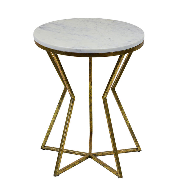 Philippa Iron and Marble Side Table - The Home Accessories Company