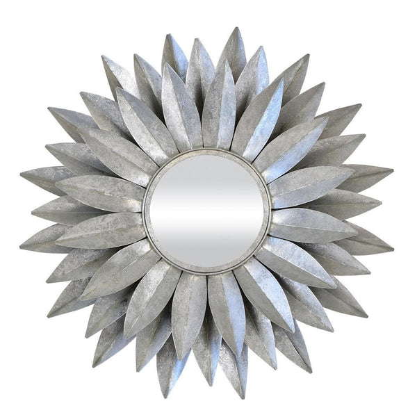 Dahlia Mirror Silver - The Home Accessories Company