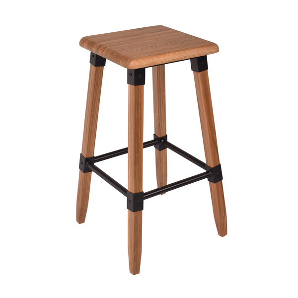 Contrast Elm Kitchen Stool - The Home Accessories Company