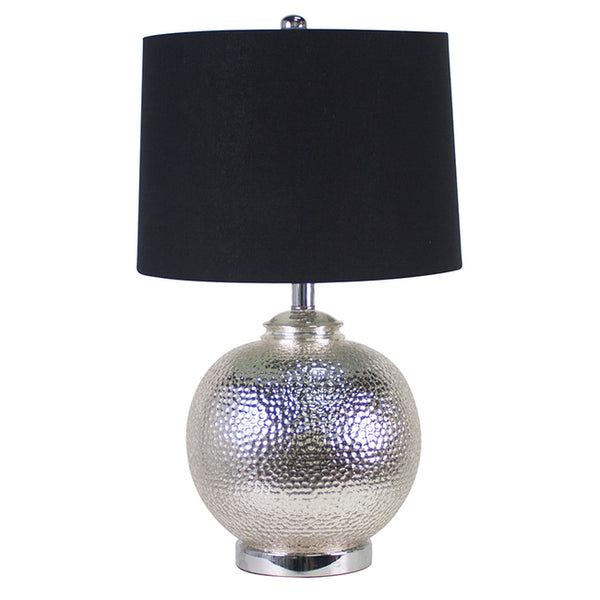 Silver Glass Table Lamp - The Home Accessories Company