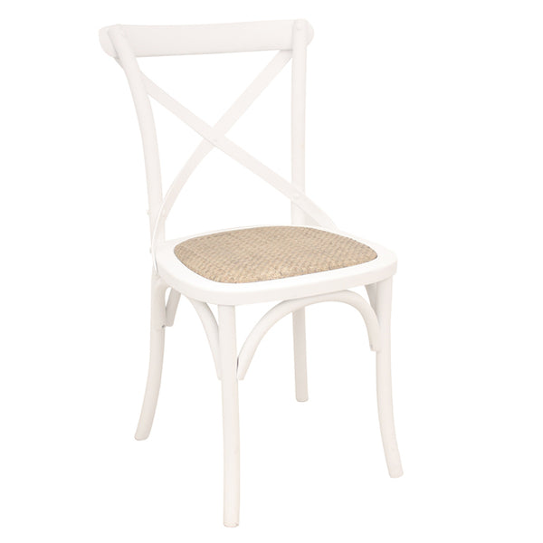 Crossback Dining Chair - White - The Home Accessories Company