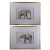 Set of 2 Elephant Framed Prints - The Home Accessories Company